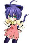 animal_ears blush cat_ears cat_tail grune haruyuki kyouran_kazoku_nikki midarezaki_kyouka simple_background tail