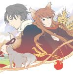 animal_ears apple craft_lawrence food fruit holo kyuusugi_toku spice_and_wolf wolf