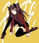 1girl fate/stay_night fate_(series) long_legs solo task_owner thigh-highs tohsaka_rin turtleneck zettai_ryouiki