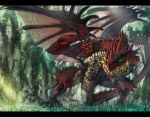 capcom dragon fire forest fura monster_hunter nature rathalos scales wyvern