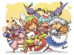 book chibi flandre_scarlet food gift hat hong_meiling hounori izayoi_sakuya patchouli_knowledge red_eyes remilia_scarlet ribbon touhou wings