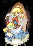 ara_ta bad_id blonde_hair blue_eyes doll glowing glowing_eyes hair_ribbon hairband ribbon shanghai shanghai_doll string strings sword touhou weapon