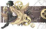 androgynous black_hair coat gear gears kino kino_no_tabi reverse_trap sasaki_kouhei shirokuro solo