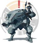 ! cosplay d.va_(overwatch) gun handgun logo metal_gear_(series) metal_gear_rex overwatch parody pistol sitting_on_shoulder sneaking_suit solid_snake solid_snake_(cosplay) weapon