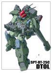 antennae beam_rifle blue_comet_spt_layzner dtol energy_gun energy_weapon mecha s.shimizu science_fiction simple_background solo super_robot_wars weapon