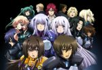6+boys 6+girls black_hair blonde_hair blue_hair bodysuit breasts breasts_apart brown_eyes brown_hair collarbone crossed_arms cryska_barchenowa cui_yifei dark_skin eyebrows eyebrows_visible_through_hair green_hair hair_bobbles hair_ornament hair_ribbon head_tilt highres hime_cut ibrahim_dogulu inia_sestina jerzy_sandek large_breasts leon_kuze long_hair looking_at_viewer medium_breasts multiple_boys multiple_girls muvluv muvluv_alternative muvluv_total_eclipse open_mouth redhead ribbon sharon_heim shirt silver_hair stella_bremer takamura_yui tarisa_manandal twintails valerio_giacosa very_long_hair vincent_lowell violet_eyes white_ribbon white_shirt yuuya_bridges
