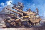 ground_vehicle gundam military military_vehicle motor_vehicle tank zaku_ii