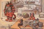 family father feline hisashino incineroar litten_(pokemon) pokemon pokemon_(game) pokemon_sm torracat