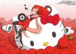 animal_ears apples bow cat_ears ginger_hair hello_kitty kittyler musical_note nekomimi nekomura_iroha official_art okama sash solo tagme vocaloid vocaloid2 wallpaper