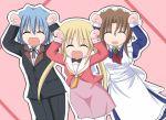 1boy 2girls animated animated_gif ayasaki_hayate caramelldansen folded_ponytail hayate_no_gotoku! jun_(aoerm) maria_(hayate_no_gotoku!) multiple_girls sanzen'in_nagi