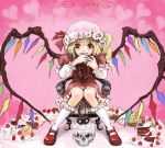 cake female flandre_scarlet food lowres pastry skull touhou