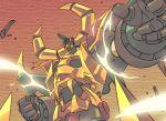 70s armor gaiking gaiking:_legend_of_daikuu_maryuu gaiking_(dmg) gaiking_the_great helmet machinery mecha no_humans oldschool super_robot touei weapon