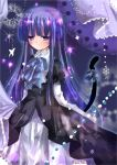 aquamarine blue_hair blush frederica_bernkastel gothic_lolita lolita_fashion long_hair ribbon tail umineko_no_naku_koro_ni
