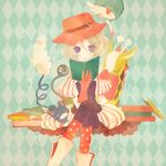 blonde_hair blue_eyes book boots dress gardevoir girafarig glameow hat nintendo pantyhose pechika pokemon short_hair smile