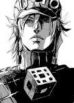 diego_brando face jojo_no_kimyou_na_bouken monochrome sketch steel_ball_run tranjistor