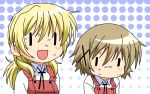 2girls hidamari_sketch highres miyako multiple_girls wallpaper wide_face yuno