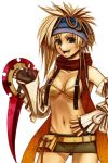 00s 1girl al_bhed_eyes artist_request bikini blonde_hair final_fantasy final_fantasy_x final_fantasy_x-2 revealing_clothes rikku ringed_eyes solo swimsuit