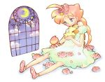 00s 1girl ahiru ahiru_(duck) ahoge bird dual_persona duck flower freckles princess_tutu window