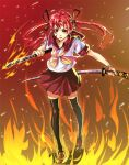 katana original satori satori_(transient_wind) school_uniform serafuku sword thigh-highs weapon zettai_ryouiki