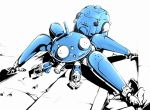 full_body ghost_in_the_shell glass ina_(gokihoihoi) machinery no_humans simple_background solo tachikoma white_background