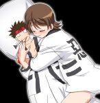 blush dakimakura_(object) gambler_club hitou_nami hug panties pantyshot pillow rurouni_kenshin sagara_sanosuke sayonara_zetsubou_sensei underwear