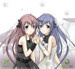 2girls blue_eyes blue_hair deviantart dress game_console hand_holding long_hair microsoft multiple_girls os-tan personification siblings sisters xbox xbox-tan xbox_360 xbox_360-tan
