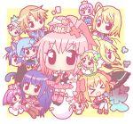 >_< 4boys 6+girls chibi closed_eyes daichi_(shugo_chara!) fujisaki_nadeshiko hinamori_amu hoshina_utau hotori_tadase kiseki_(shugo_chara!) miki_(shugo_chara!) mirai_(sugar) multiple_boys multiple_girls pepe_(shugo_chara!) ran_(shugo_chara!) shugo_chara! souma_kuukai suu_(shugo_chara!) temari_(shugo_chara!) trap tsukiyomi_ikuto yoru_(shugo_chara!) yuiki_yaya