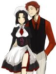 1boy 1girl baccano! chane_laforet claire_stanfield cosplay maid parody shannon shannon_(cosplay) umineko_no_naku_koro_ni ushiromiya_battler ushiromiya_battler_(cosplay)