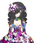 bow breasts butterfly cleavage curly_hair dress drill_hair katekyo_hitman_reborn katekyo_hitman_reborn! lolita_fashion pantera purple_eyes violet_eyes