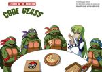 1girl brand_name_imitation c.c. code_geass crossover donatello food green_hair leonardo michelangelo pizza pizza_hut raphael ryusei teenage_mutant_ninja_turtles thai