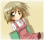 blush book hidamari_sketch school_uniform serafuku yuno