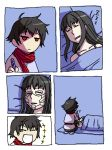 1boy 1girl comic face_painting gundam gundam_00 laughing marina_ismail parody setsuna_f_seiei silent_comic sleeping tears yotsubato!