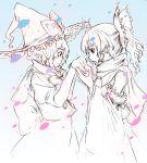 female hakurei_reimu kirisame_marisa perfect_cherry_blossom satori satori_(transient_wind) scarf sketch touhou