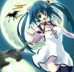 blue_hair green_eyes moon no_panties soba_(saz) twintails