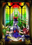 daiyousei ex-keine female head_wings kamishirasawa_keine koakuma stained_glass tarot the_embodiment_of_scarlet_devil touhou