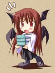 1girl book chibi female head_wings koakuma lowres solo the_embodiment_of_scarlet_devil touhou