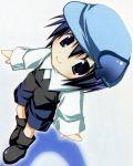 androgynous beret black_eyes blue_hair child hat miki_(shugo_chara!) reverse_trap shugo_chara! smile