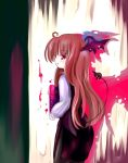 1girl 23 23_(candy_chapus) demon_girl female head_wings koakuma redhead solo tail the_embodiment_of_scarlet_devil touhou wings