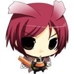 .hack// .hack//g.u. 1girl bandai chibi cyber_connect_2 lowres redhead short_hair solo yowkow_(.hack//)