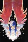 absurdres blue_hair hakua_ugetsu highres long_hair red_eyes scan wings