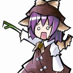 animated animated_gif chibi female hatsune_miku hekiryuu loituma lowres mystia_lorelei spring_onion touhou vocaloid