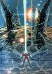 80s bad_end bairal_jin battle densetsu_kyojin_ideon epic gando_rowa highres ideon mecha no_humans official_art oldschool ookawara_kunio realistic science_fiction solo space_craft spoilers super_robot