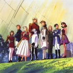 2boys 6+girls 90s asymetrical_bob_cut blonde_hair boots braid brown_hair catherine_bloom cravat dorothy_catalonia epaulettes everyone eyebrows glasses gloves grass gundam gundam_wing high_heels highres lady_une long_hair lucrezia_noin mask military military_uniform milliardo_peacecraft multiple_boys multiple_girls murase_shuko pantyhose plant relena_peacecraft sally_po shoes space tree treize_khushrenada twin_braids uniform white_legwear zechs_merquise