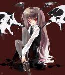 1girl female head_wings koakuma pantyhose shunsei_(muratou) solo the_embodiment_of_scarlet_devil touhou