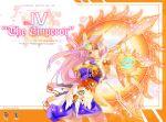 90s g_gundam god_gundam gundam ky mecha_musume pink_hair shining_finger yellow_eyes