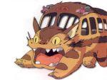 80s cat fur nekobus studio_ghibli teeth tonari_no_totoro