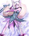 1girl blonde_hair fumio_(rsqkr) liese long_hair low-tied_long_hair polearm riesz seiken_densetsu seiken_densetsu_3 solo spear tied_hair weapon