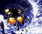 90s armor black_selena helmet kidou_senkan_nadesico kidou_senkan_nadesico_-_prince_of_darkness machinery mecha no_humans weapon