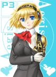 aegis aegis_(persona) amane_(funfun) android atlus blonde_hair blue_eyes persona persona_3 short_hair