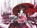 1girl cradle_(artist) female houraisan_kaguya kuroya_shinobu oriental_umbrella solo touhou umbrella wallpaper